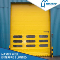 Insulated Commercial High Speed PVC Stacking Doors