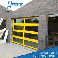 Residential with Passing Door Insulated Aluminum Glass Garage Door