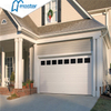 remote control commercial overlap trackless tempered glass roll up garage doors