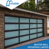 Restaurants Full View Frameless Insulated Glass Aluminum Garage Door