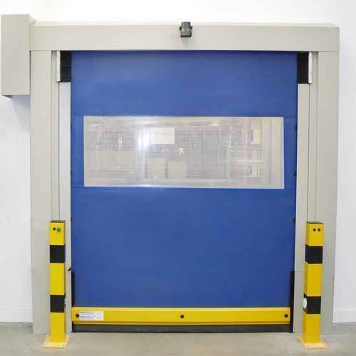 Which areas are high-speed doors usually used in?