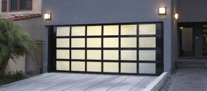 12 X 8 Frameless Insulated Aluminum Glass Garage Door