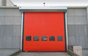 Cheap High Speed PVC Zipper Ware House Doors