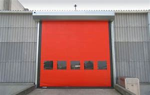 Automatic High Speed PVC Zipper Ware House Doors
