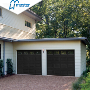 Electric Residential Timber Look Fiberglass Roll Up Garage Doors with Glass