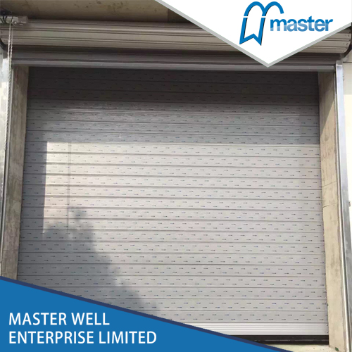 Automatic Industrial Anti-Wind Aluminum Alloy Spiral High Speed Hard Fast Rolling Up Doors