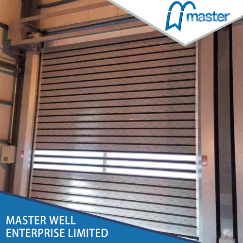Turbine Commercial Wind Proof Aluminum Alloy Spiral High Speed Hard Fast Rolling Up Doors