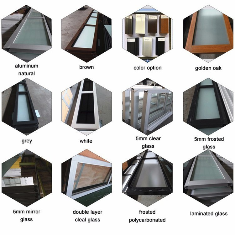 tempered glass alumium garage door