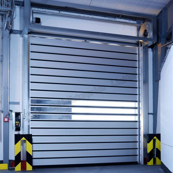 Automatic Industrial Anti-Wind Aluminum Alloy Spiral High Speed Hard Fast Rolling Doors