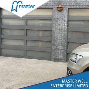 Clear Frosted Glass Alumium Garage Door with Passing Door