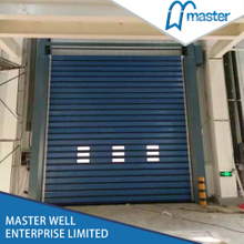 Strong Commercial Security Aluminum Alloy Spiral High Speed Hard Fast Rolling Doors