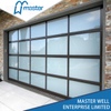 Storefront Frosted Glass Alumium Garage Door with Passing Door