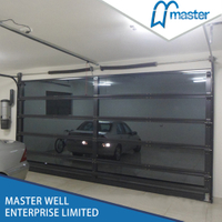 9x7 Modern Insulated Aluminum Glass Garage Door