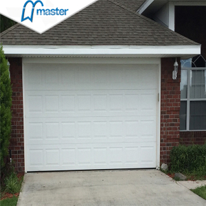 Customized Residential Weather Strip Golden Oak Metal Side Sliding Sectional Garage Doors