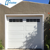 Electric Carriage House Overlap Trackless Glass PU Foaming Overhead Sectional Garage Doors
