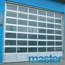 Residential with Passing Door Anodized Aluminum Glass Garage Door