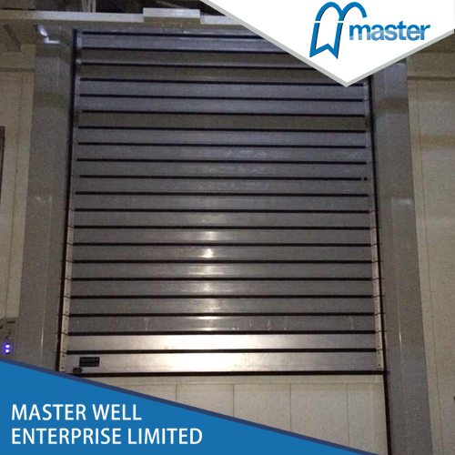 Easy Operational Logistics Sound Proofing PU Foam Spiral High Speed Hard Fast Roller Doors