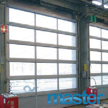 Single Car Frameless Anodized Aluminum Glass Garage Door