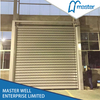 Saving Energy Logistics Temperature Proofing Wooden Grain Spiral High Speed Hard Fast Rolling Doors