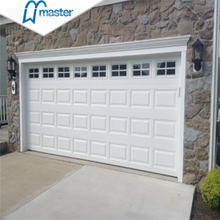 Manually Open Commercial Overlap Trackless Light Grey Aluminum Overhead Sectional Garage Doors