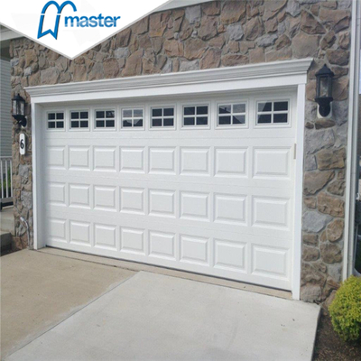 Automatic Commercial Zero Clearance White Galvanized Steel Overhead Sectional Garage Doors