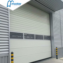 Electrical Wind Proof Steel Timber Vertical Lift Industrial Doors with Entrance