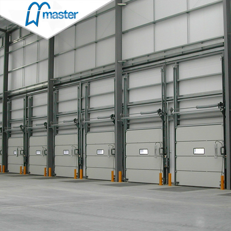 Automatic Metal Secure Insulated Industrial Fold Up Doors with Windows