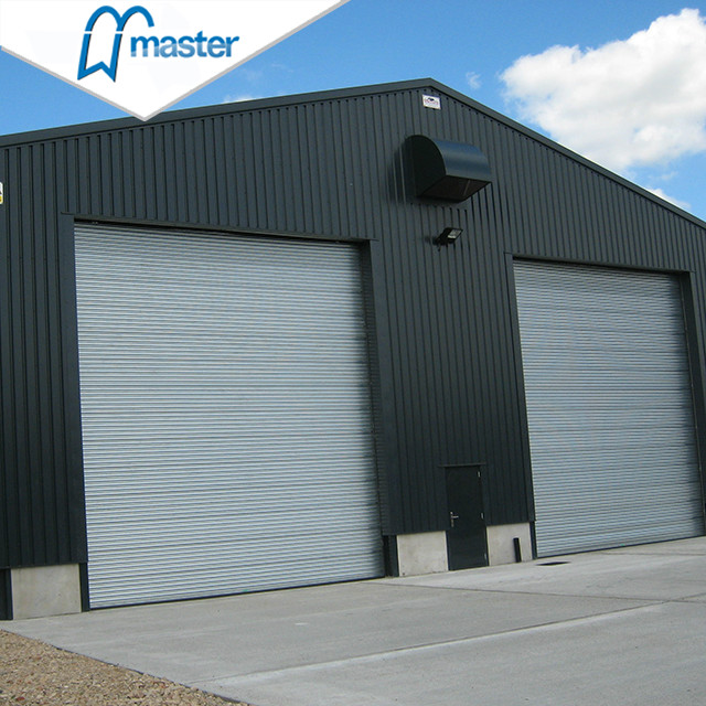 Electrical Exterior Glass Insulated High Speed Industrial Doors with Access