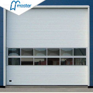 Automatic Galvanized Insulated Steel Overhead Sectional Industrial Internal Doors