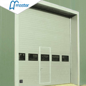 Automatic Vertical Lift Steel Overhead Sectional Industrial Doors with Windows