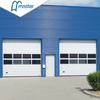 Automatic Fireproof Steel Overhead Sectional Industrial Doors with Windows