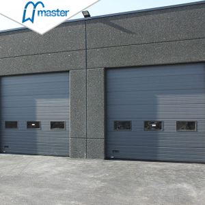 Electrical Large Aluminium Steel Industrial Sliding Doors with Access